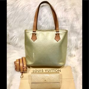 Louis Vuitton Green Vernis Houston #2.5N